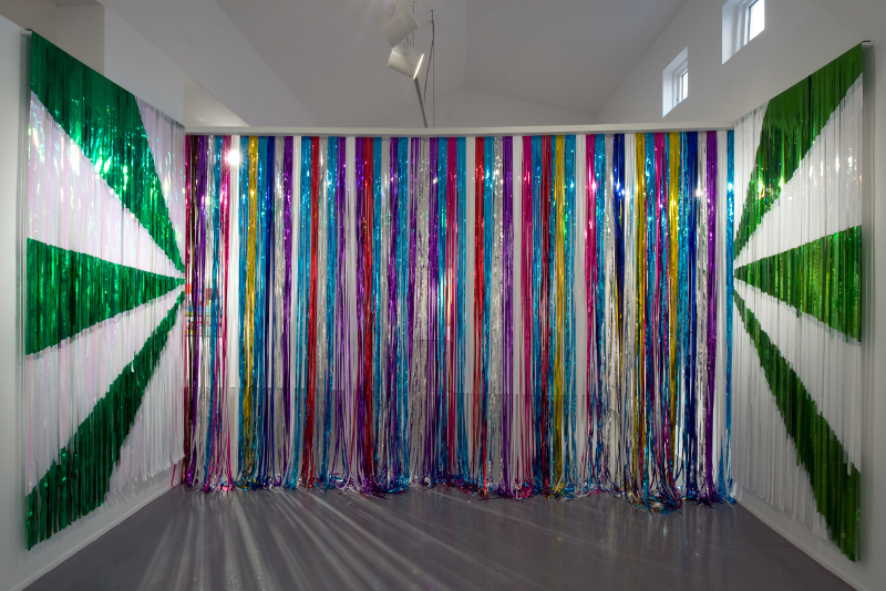 Dance Stripes after Newman, 2010, installation view, Diana Lowenstein Gallery, Miami, 2010