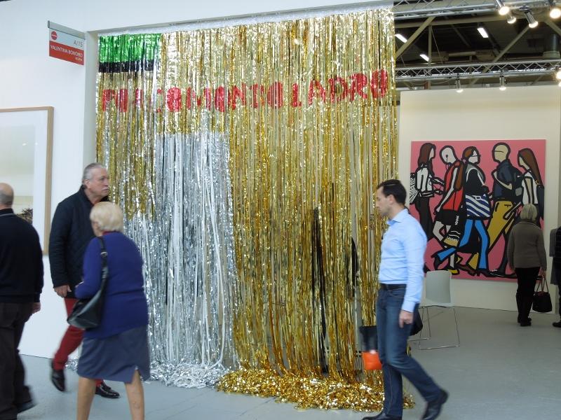 Porco Mondo Ladro, 2015, installation view, Arte Fiera Bologna, Galleria Valentina Bonomo booth, 2015