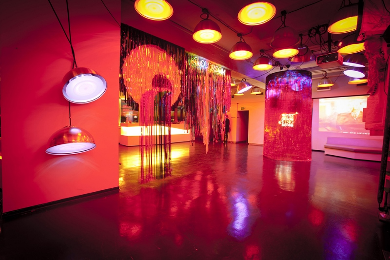 Scratch'n'Cut, mylar works installation view, MADE, Berlin, 2011