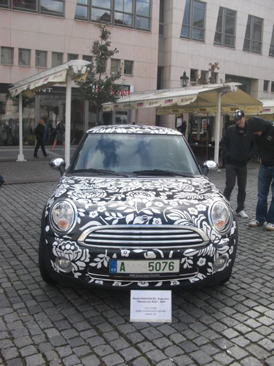 Grandmother Graffiti, Mini Cooper Design, 2009, presentation in Prague