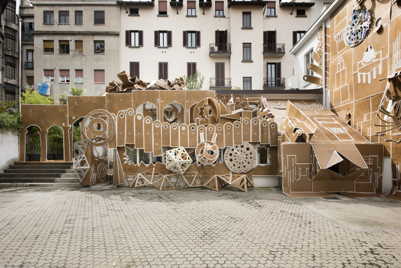 Daniel González, Pop-Up Building Milan, Marsèlleria, Milan, 2015, ph Carola Merello