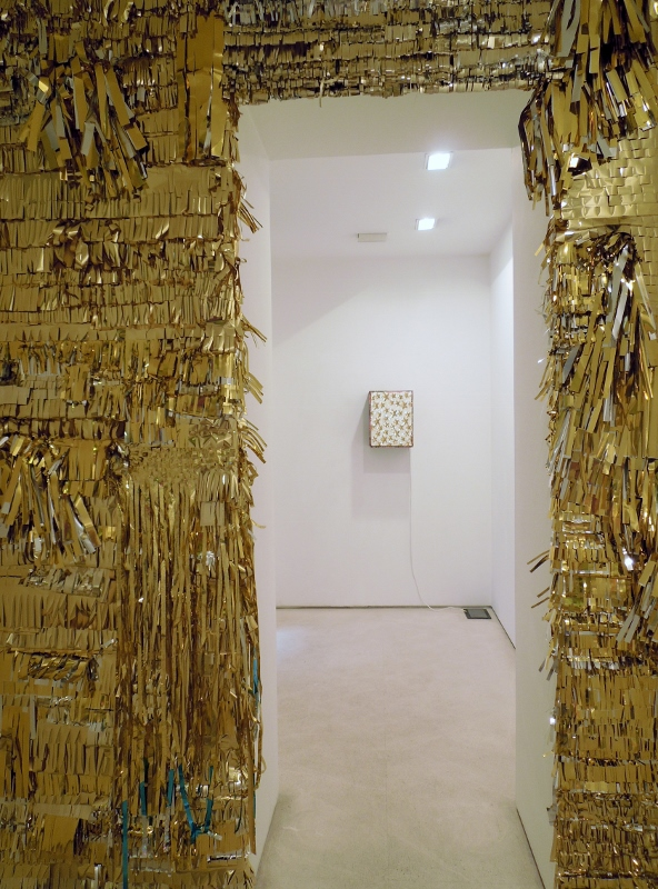 Super Reality, mylar room, installation view, Galleria Valentina Bonomo, Rome
