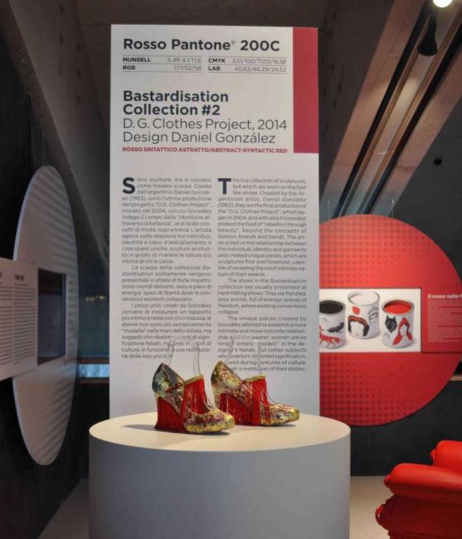 I colori del Rosso, installation view, Galleria Campari, Sesto San Giovanni, Milano