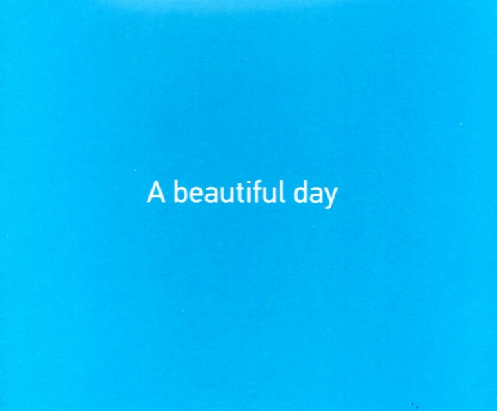 A Beautiful Day, catalogue cover, Fondazione March, Padua