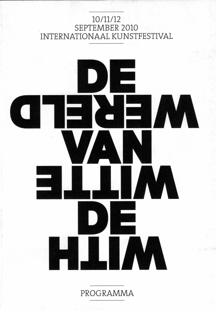 Daniel González, With de Witte van de Vereld, Rotterdam, catalogue cover, 2010
