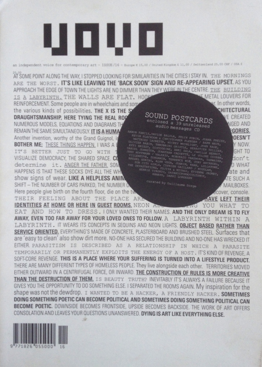 Marcel Janco, Living Objects, Uovo Magazine, n.16,catalogue, January-March 2008