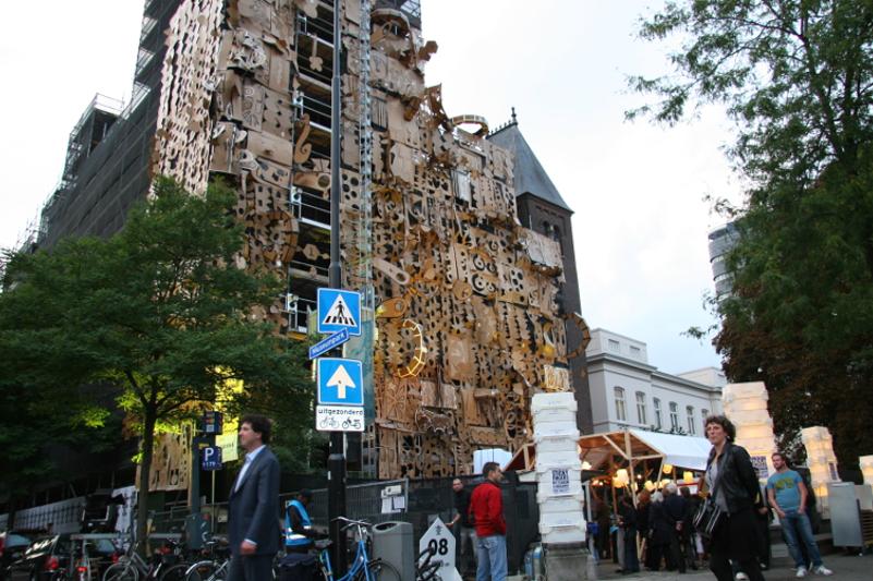 Pop-Up Building, Witte de With Festival, Rotterdam, 2010
