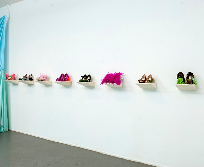 Daniel González D.G. Clothes Project, installation view, Diana Lowenstein Gallery, Miami, 2013