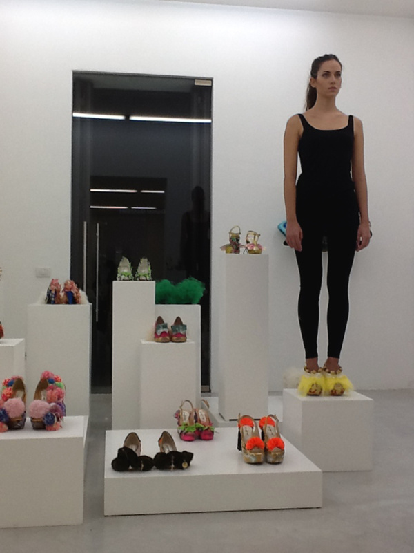 D.G. Clothes Project, Juliet & the Forbidden Games Shoes, performance frame, Studio La Città, Verona, 2013