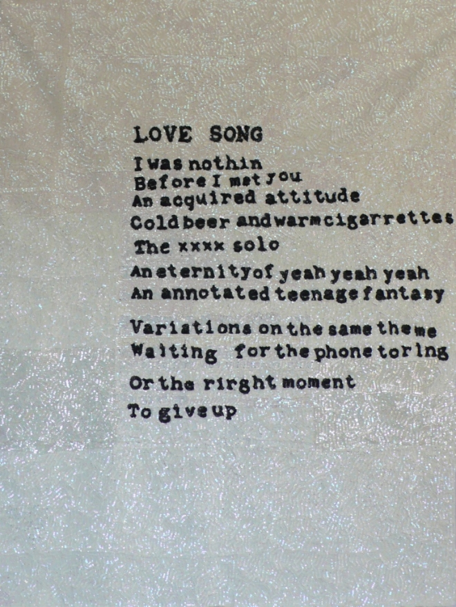 Daniel González, Love song, 2011, hand-sewn sequins on canvas, 190 x 140 cm