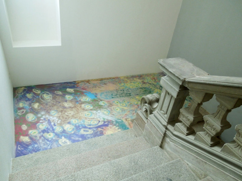 Genesis of the Floor, 2014, Palazzo Clerici, built in 1726, Gorgonzola, Italy