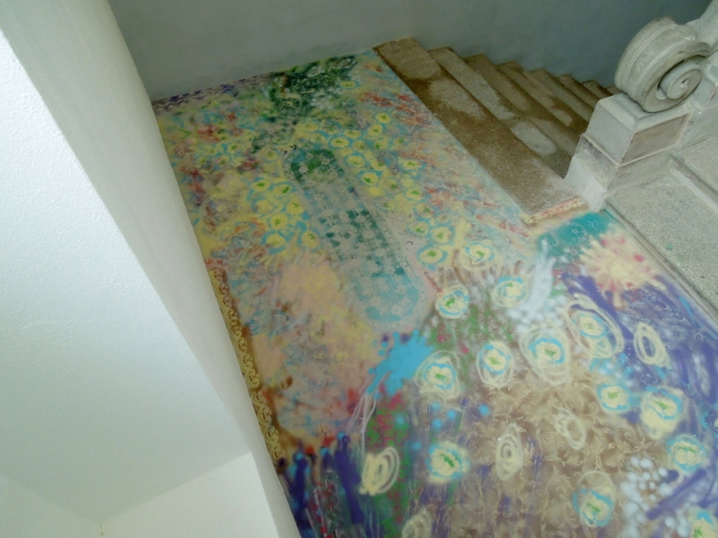 Genesis of the Floor, 2014, Palazzo Clerici, Gorgonzola, Italy