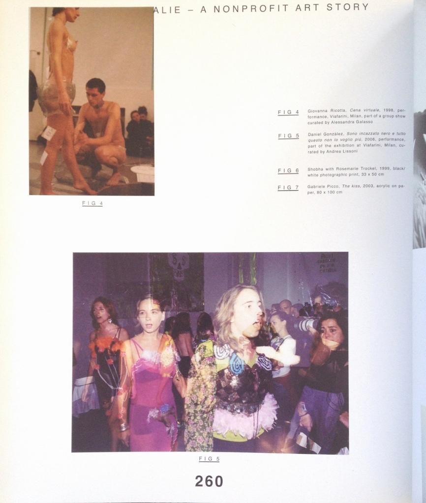 Patrizia Brusarosco, Milovan Farronato, Souvenir d'Italie, a non profit art story, Viafarini, Mousse Publishing, Milano, p.260, 2010