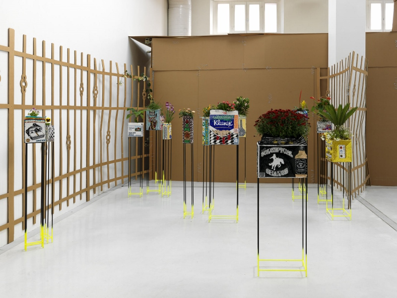 Cloud Factory, Flowerpots installation view, Studio La Città, Verona, 2012