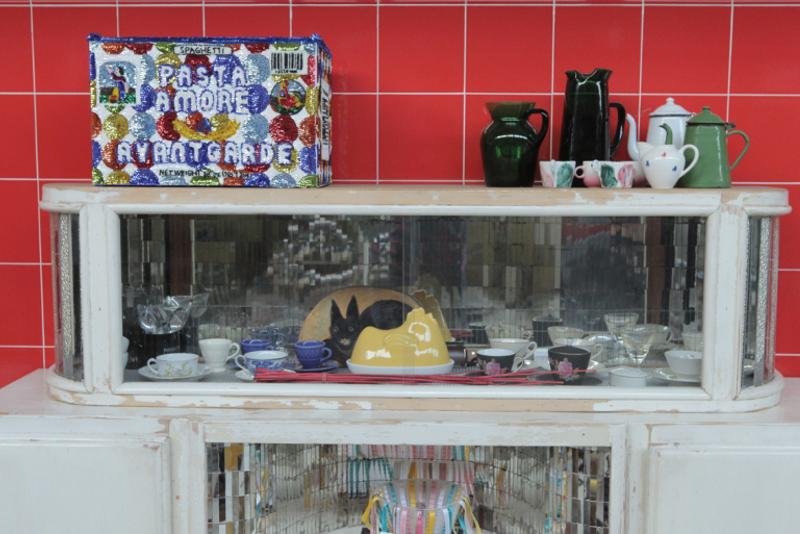 Criminal Aesthetic Fashion Soundsystem, cafeteria installation, Patrizia Pepe, Florence, 2013