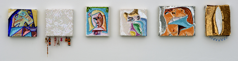 Pimp Art History, installation view, Diana Lowenstein Gallery, Miami, 2010
