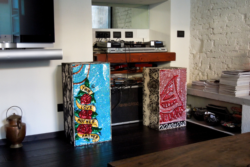 Soundsystem #54 #55, Private collection, Turin, installation view