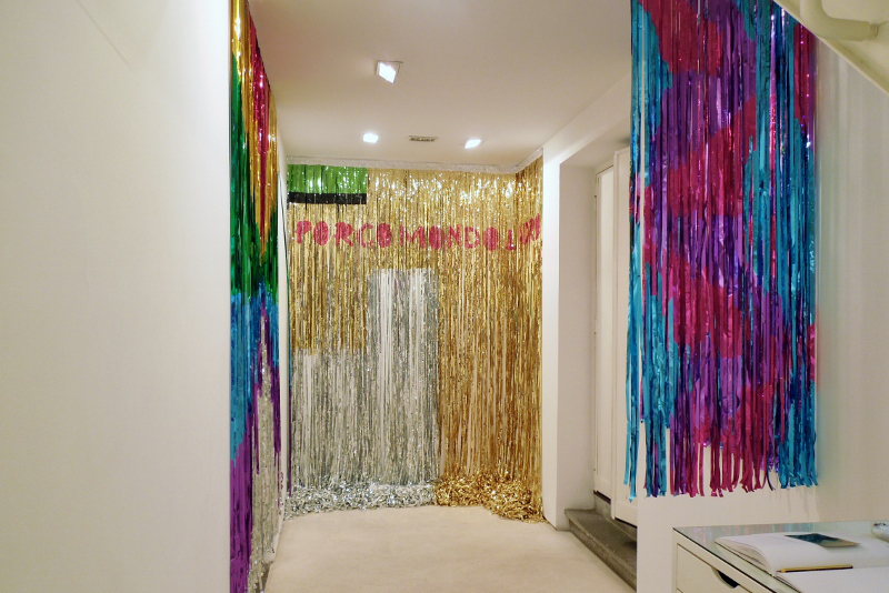 Super Reality, mylar room, instalation view, Galleria Valentina Bonomo, 2015