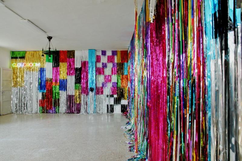 Cloudroom, 2011, installation view, studio set-up