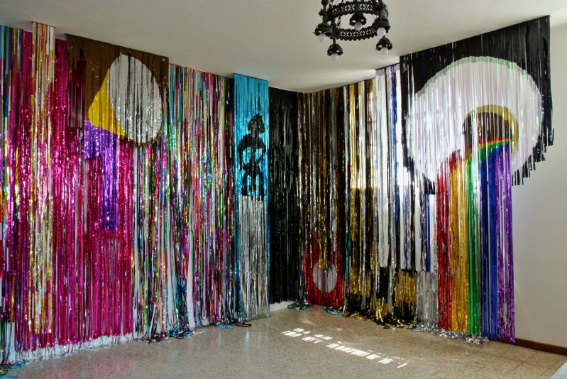 Cloudroom, 2011, installation view, studio set-up