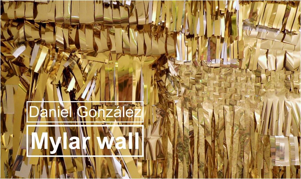 Daniel González Studio, Mylar wall, tapestry invitation