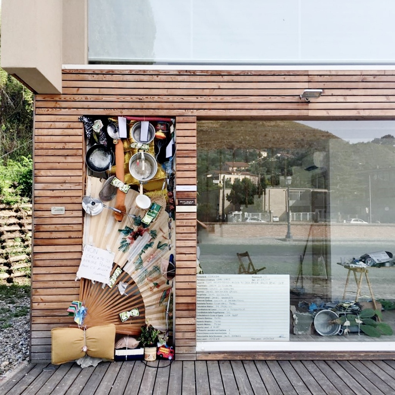 Daniel González, Mi Casa Tu Casa, 2018, residenza Bocs Art